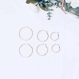 NWOT Set of Hoop Earrings